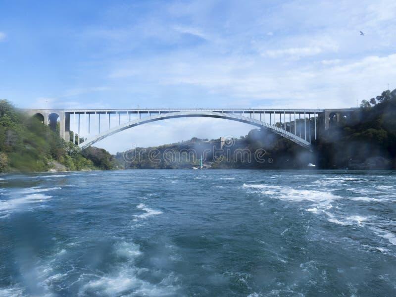 桥梁落尼亚加拉彩虹 库存照片
