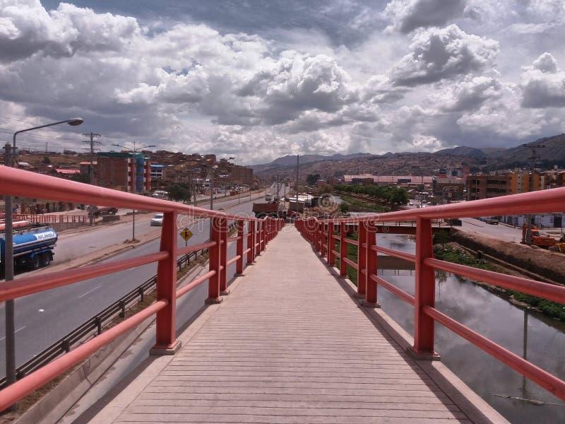 桥梁进路坡道 免版税图库摄影
