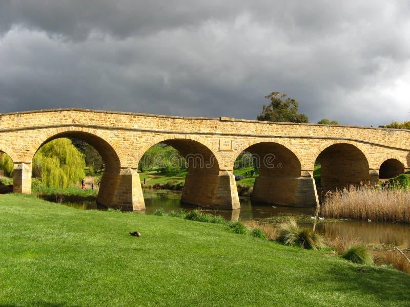 桥梁里士满塔斯马尼亚岛 库存照片