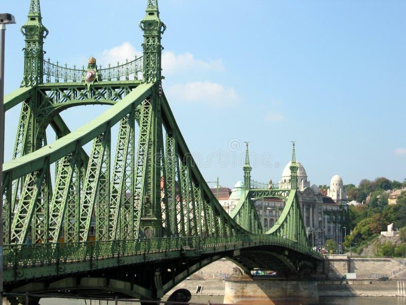 桥梁铁 免版税库存照片