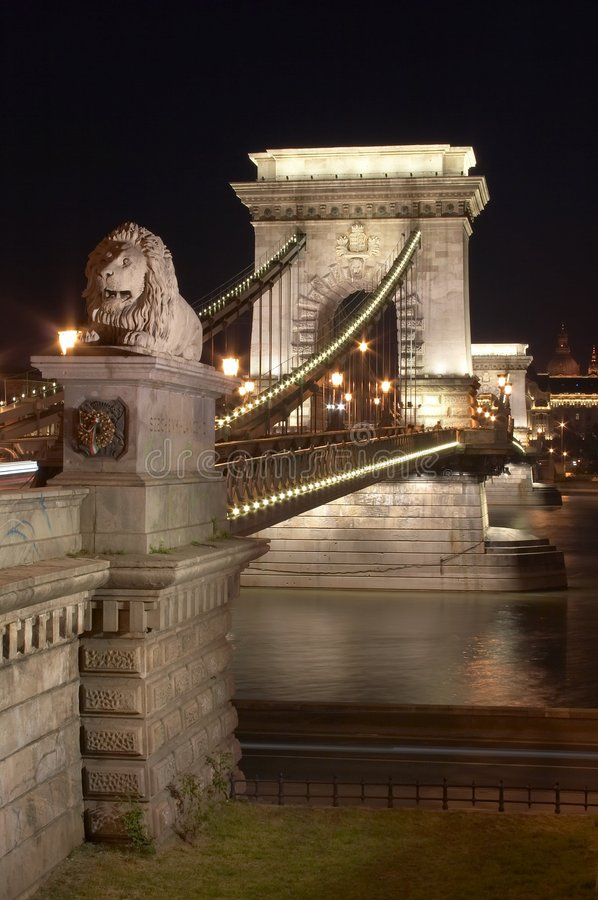 桥梁链子 库存图片