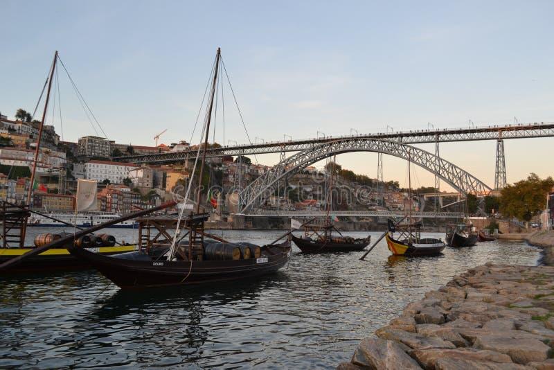 桥梁雷斯我,波尔图,葡萄牙 库存图片