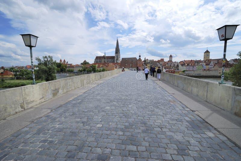 桥梁雷根斯堡石头 编辑类库存图片