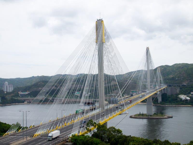 桥梁高速公路kau发出丁当声业务量 免版税图库摄影
