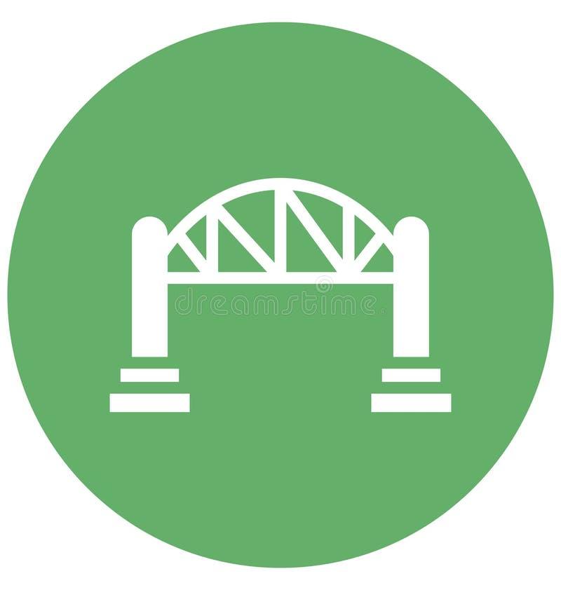 桥梁,机动车路可以容易地是编辑或修改的被隔绝的传染媒介象 桥梁,机动车路隔绝了可以是ea的传染媒介象 皇族释放例证