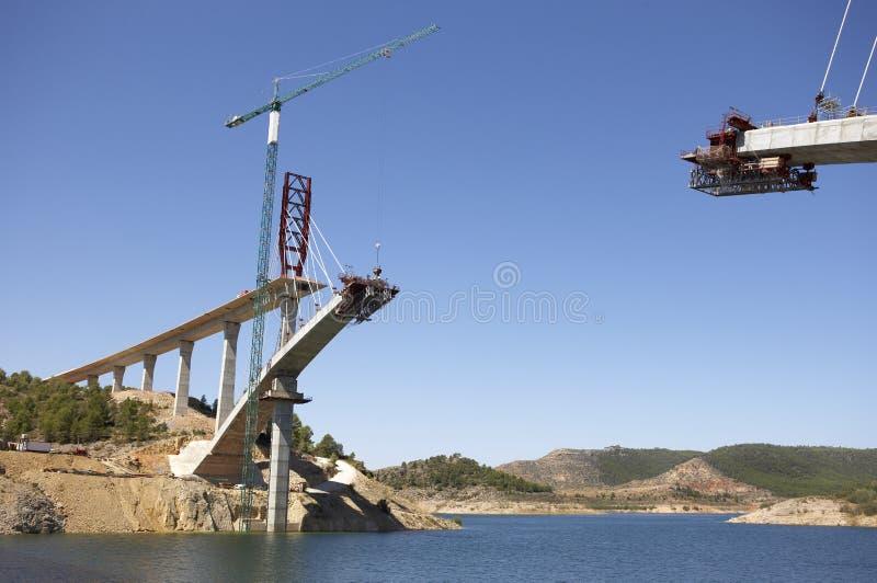 桥梁建设中 库存图片