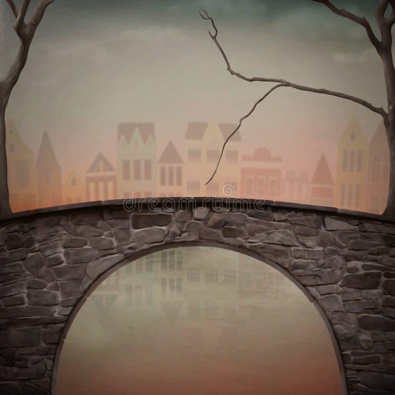 桥梁 向量例证