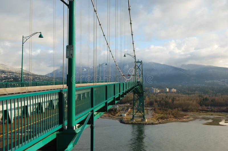 桥梁BC门狮子温哥华 免版税图库摄影