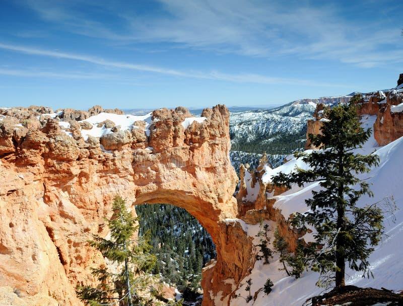 桥梁bryce峡谷自然np 免版税库存图片