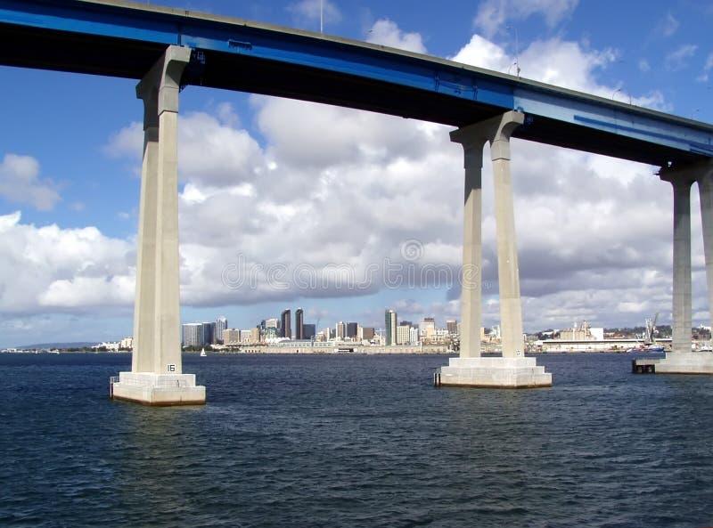 桥梁coronado地亚哥圣 免版税库存照片