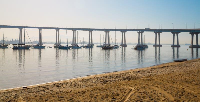 桥梁coronado地亚哥圣 免版税库存图片