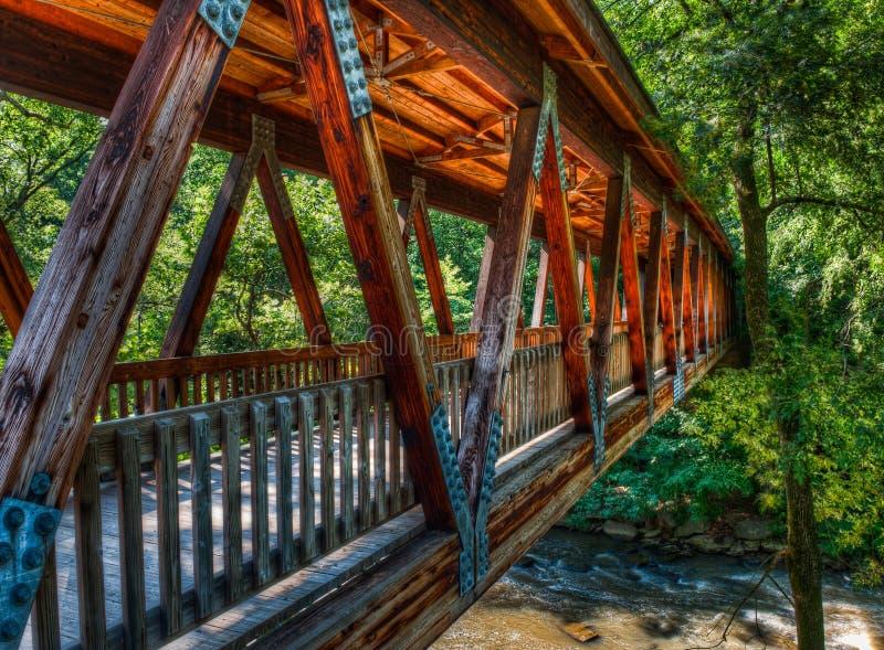 桥梁covererd磨房roswell 免版税图库摄影
