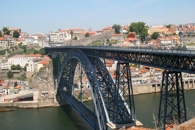 桥梁dom luis波尔图 库存照片