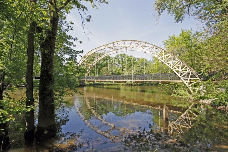 桥梁dunns印第安纳 库存照片