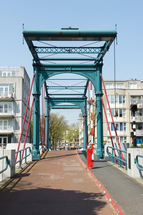 桥梁Ezelsbrug,阿姆斯特丹,荷兰 免版税图库摄影