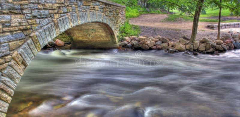 桥梁hdr河 库存照片