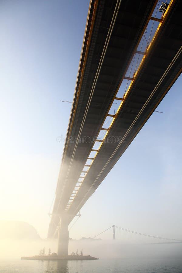 桥梁kau铃的响声 库存图片
