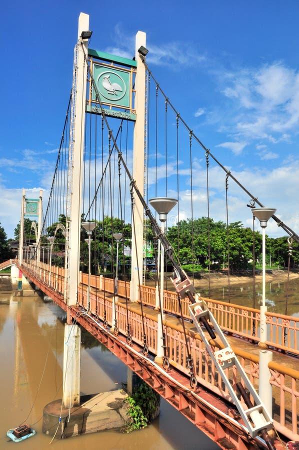 桥梁lampang桔子省 免版税库存照片