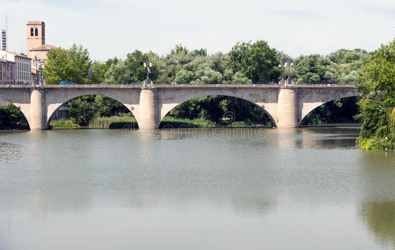 桥梁logro o 免版税库存图片