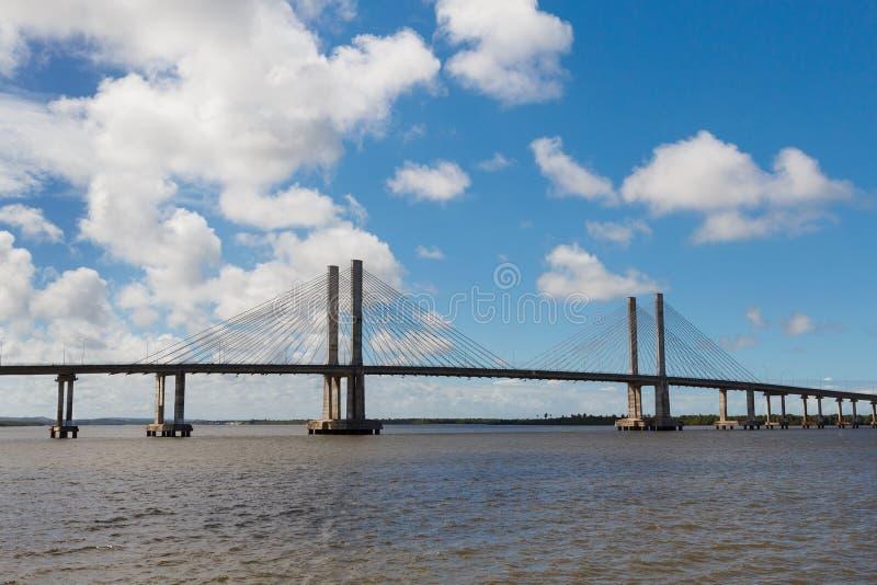 桥梁Ponte Construtor若昂Alves在阿拉卡茹, Sergipe,巴西 免版税库存照片