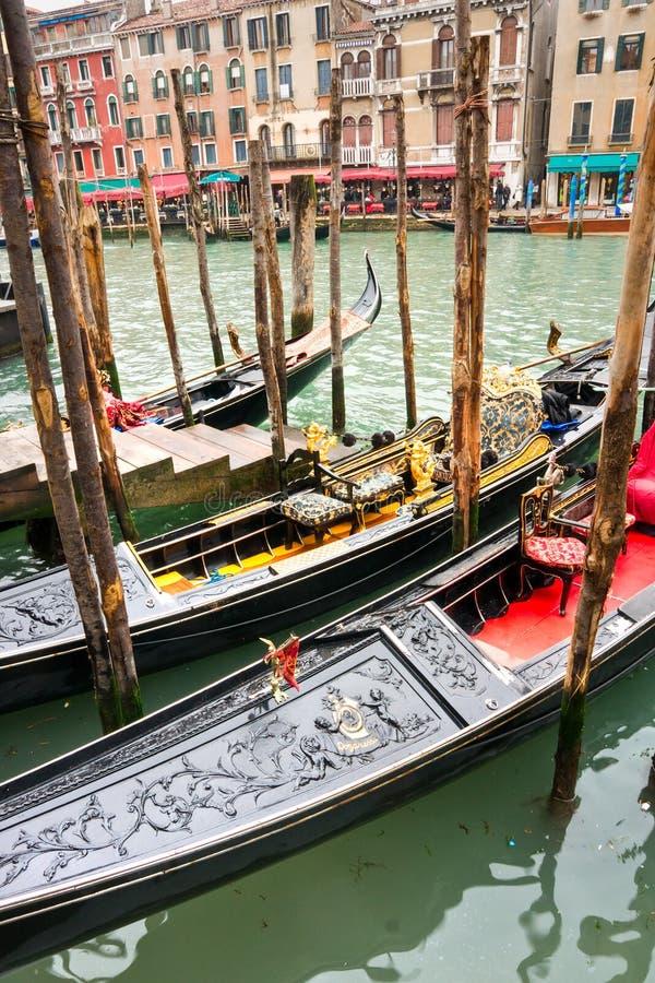 桥梁rialto威尼斯视图 免版税图库摄影