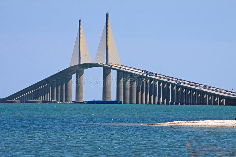 桥梁skyway阳光 免版税图库摄影