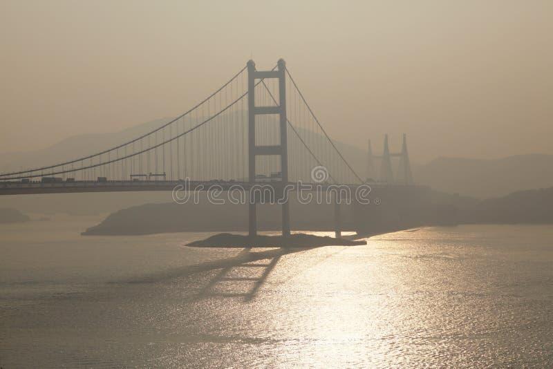 桥梁tsing的香港ma 库存图片