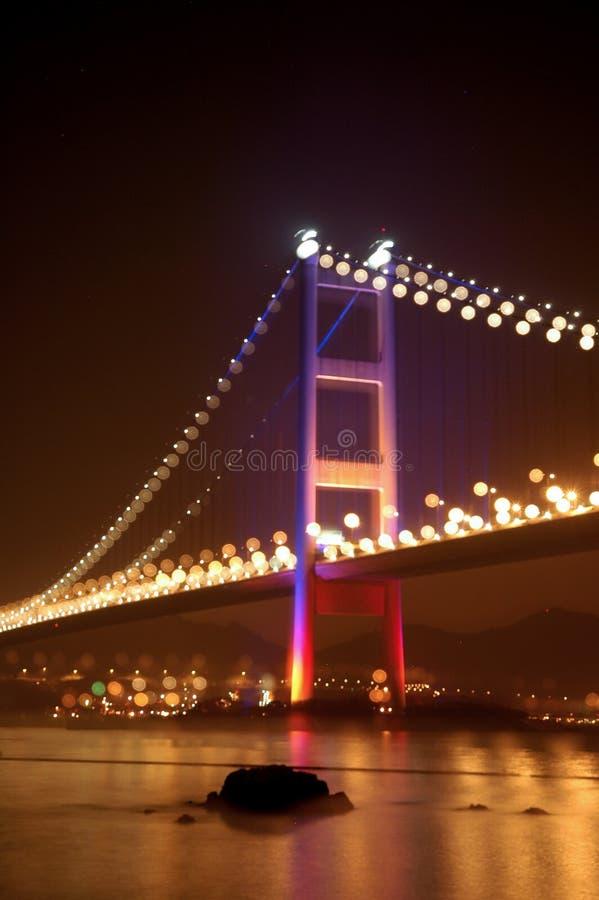 桥梁tsing ma的暂挂 免版税库存照片