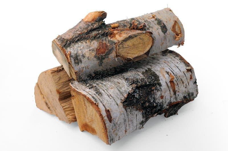 桦树木柴 库存照片