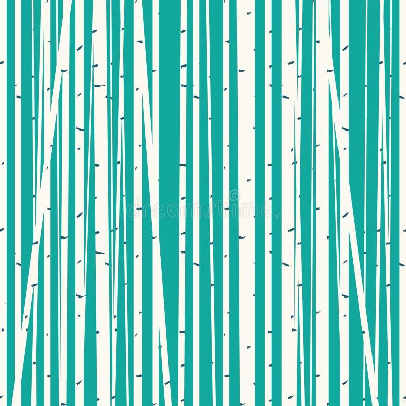 桦树树丛反对蓝天的传染媒介背景 向量例证