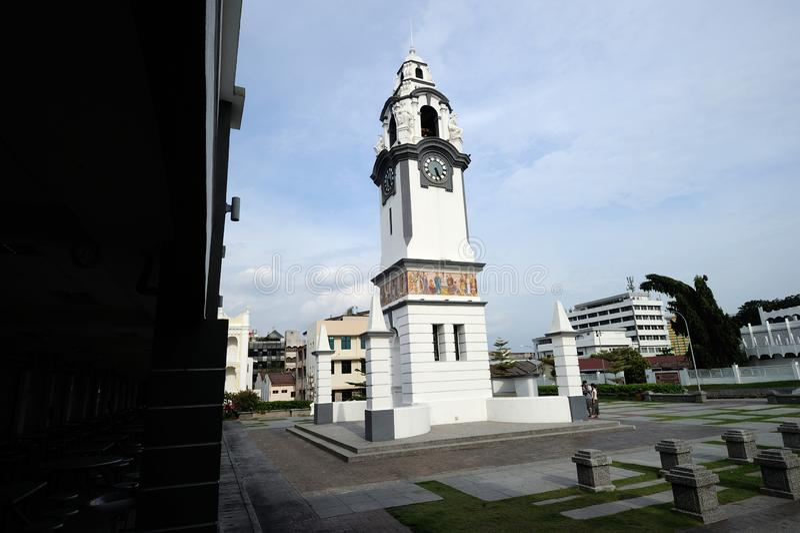 桦树纪念品尖沙咀钟楼 库存图片