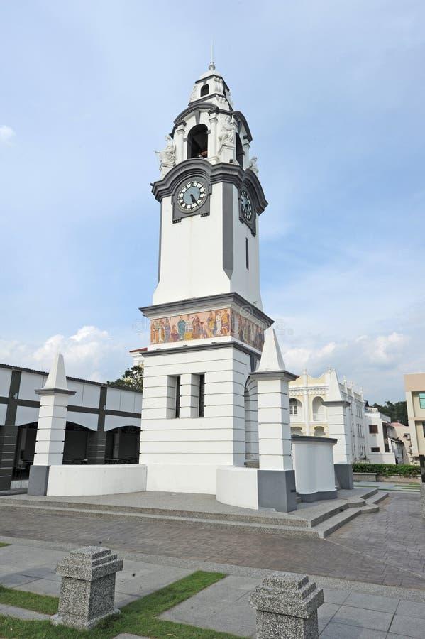 桦树纪念尖沙嘴钟楼 免版税库存照片