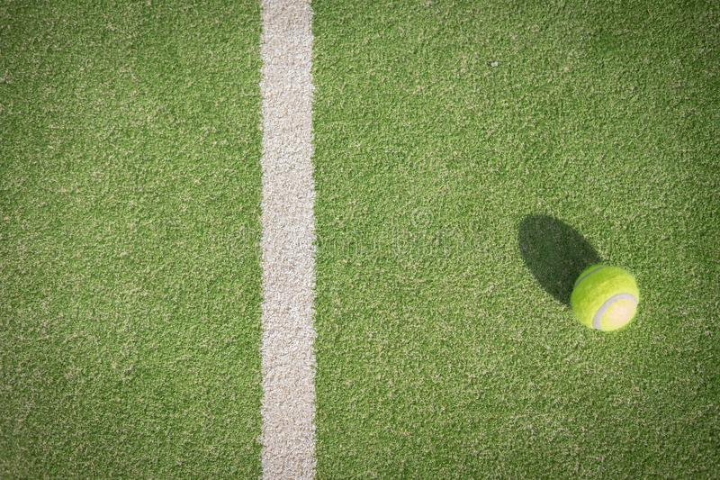 桨网球场和球 库存照片