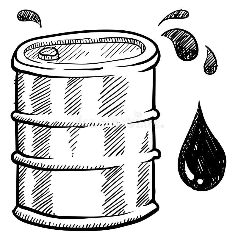 桶例证油 库存例证