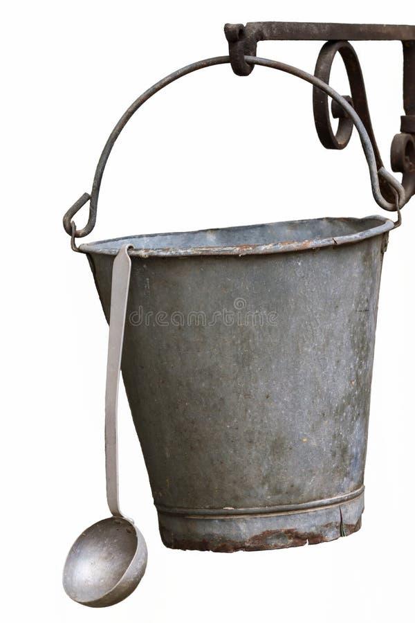 桶和杓子 免版税库存照片