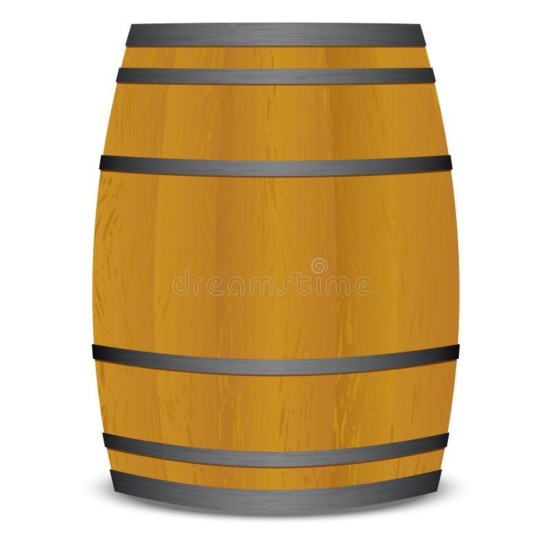 桶啤酒小桶 库存例证