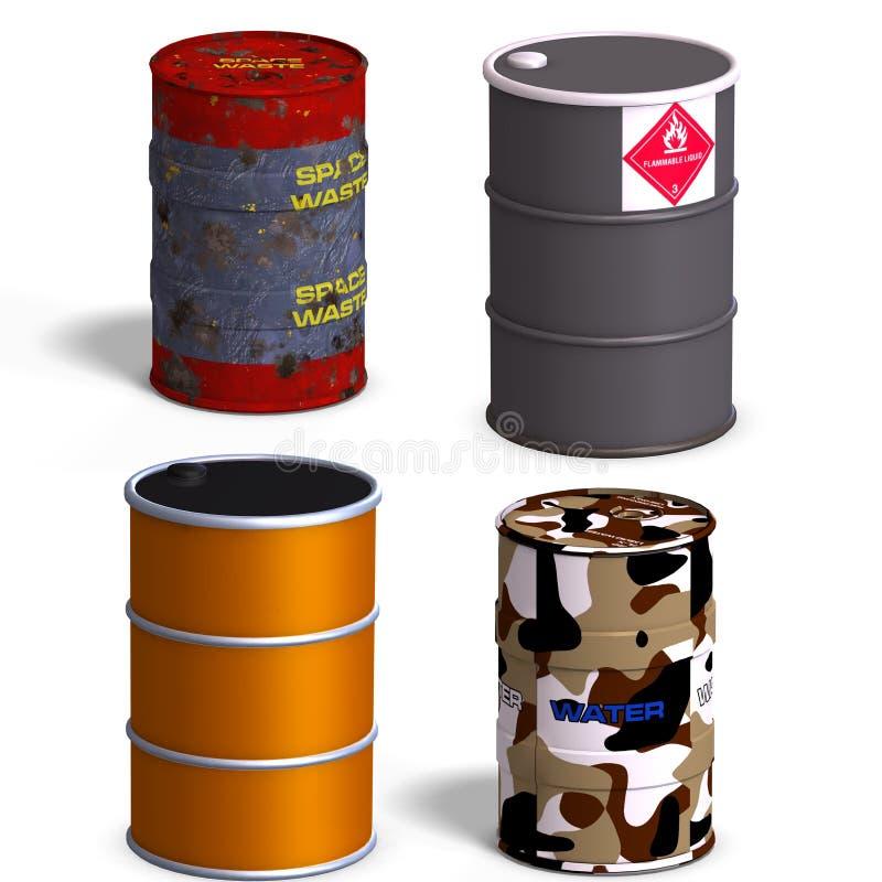 桶收集 库存例证