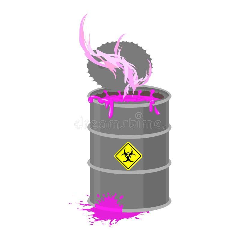 桶放射性废物 毒性废物小桶 向量例证