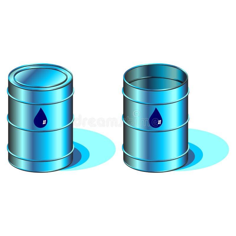 桶水 库存例证