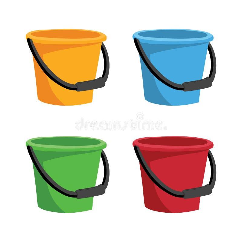 桶汇集传染媒介设计 皇族释放例证