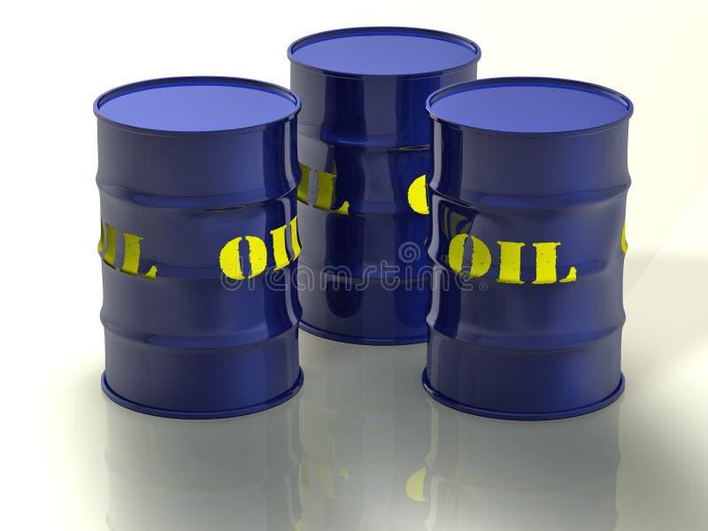 桶油 库存例证