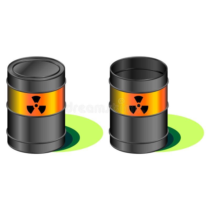 桶泄漏放射性 向量例证