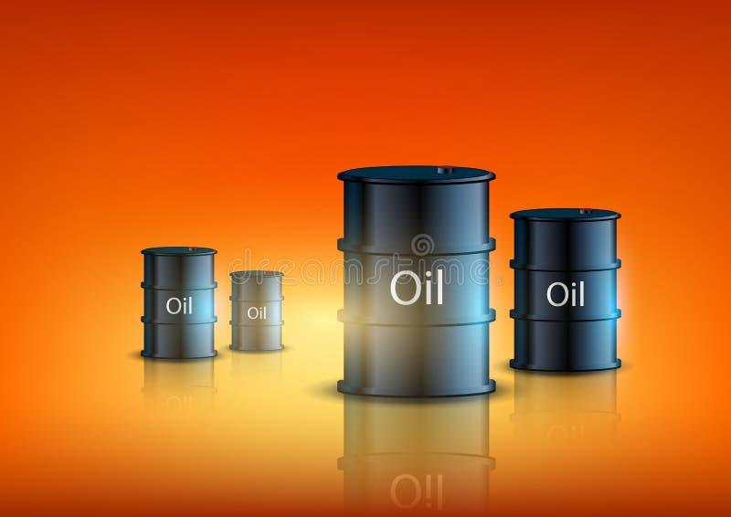 桶燃料 向量例证