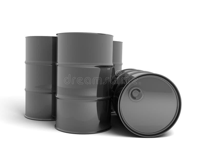 桶石油 向量例证