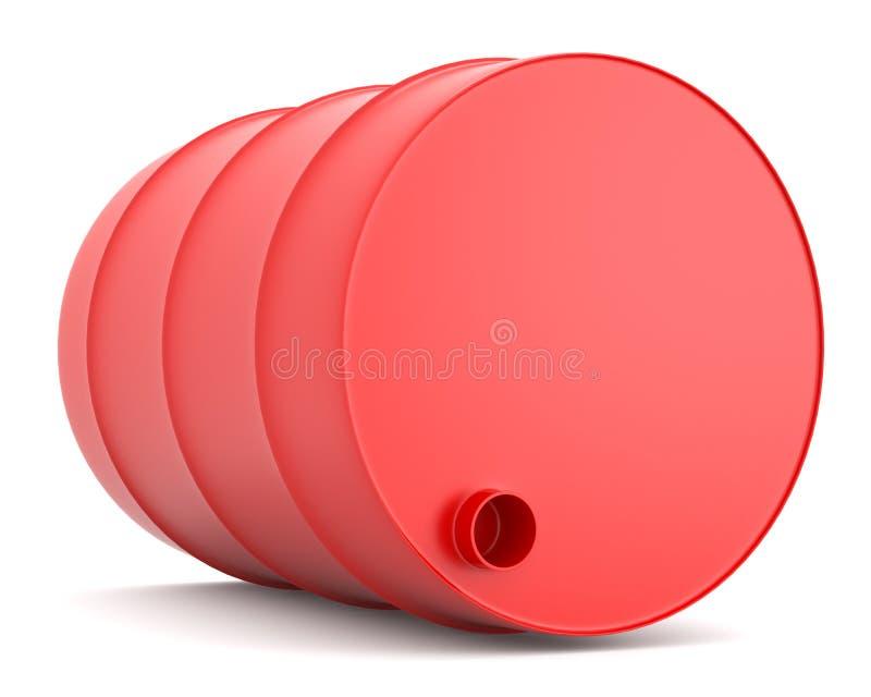 桶红色 皇族释放例证