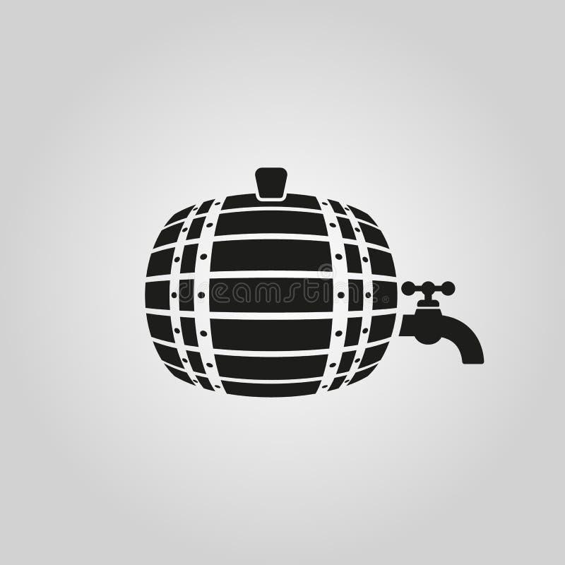 桶象 酒桶和小桶,啤酒标志 Ui 网 徽标 标志 平的设计 阿帕卢萨马 股票 皇族释放例证