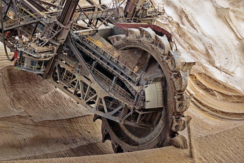 桶轮子挖掘机采矿 免版税库存照片