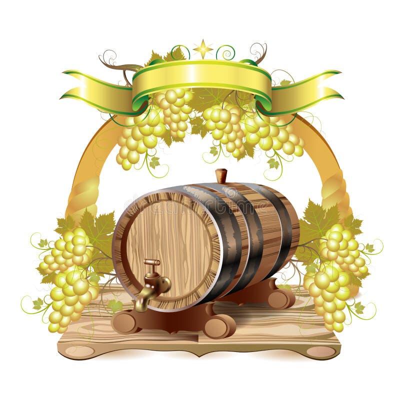 桶酒 库存例证