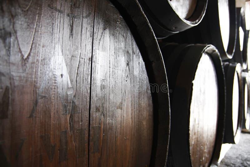 桶酒 免版税库存照片