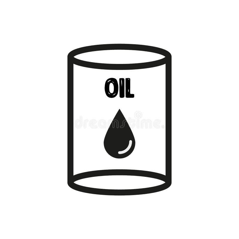 桶黑色例证油红色向量白色 在白色背景传染媒介隔绝的黑金属桶 向量例证